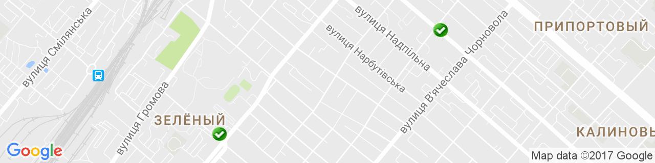Карта объектов компании Альтаир