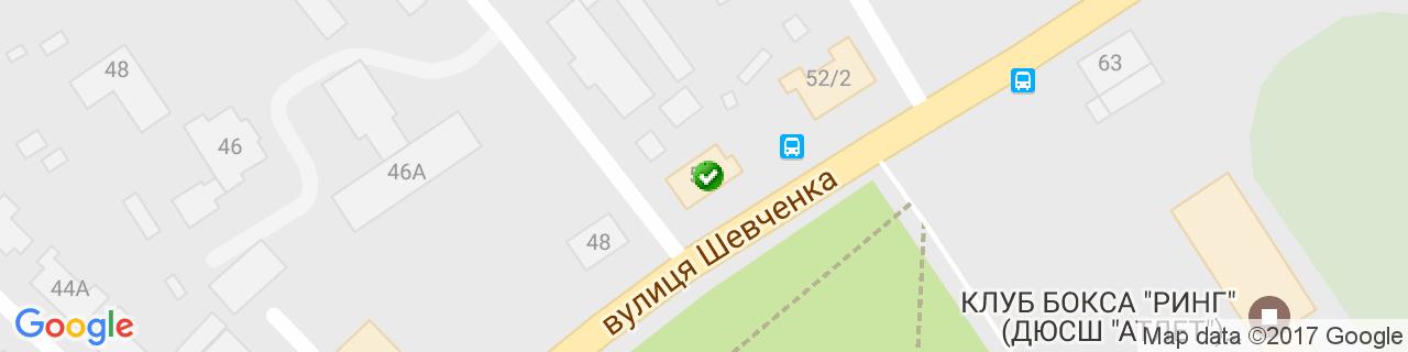 Карта объектов компании РЕАЛЬ